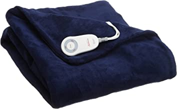 Sunbeam Heated Throw Blanket | Microplush, 3 Heat Settings, Royal Blue - TSM8TS-R505-25B00