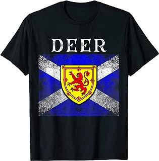 Deer Scottish Family Name Flag Shield T-Shirt