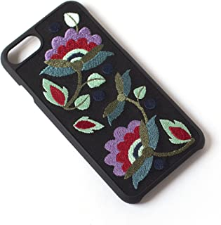 Tech Candy Better Off Thread Embroidered iPhone 6 iPhone 7 iPhone 8 Phone Case Protective Durable Pretty Designer Girls Teenagers Womens Shock Absorbing Beautiful Floral Gorgeous Black Red Purple