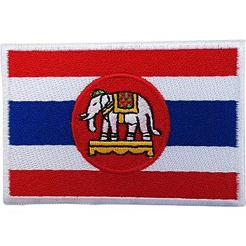 Bandera de Tailandia parche hierro Sew en bordado insignia ...