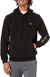 Calvin Klein Polar Fleece Logo Quarter Zip Sweatshirt Pullover Sweater
