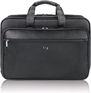 Paramount 16 Inch Laptop Briefcase with Smart Strap, Black