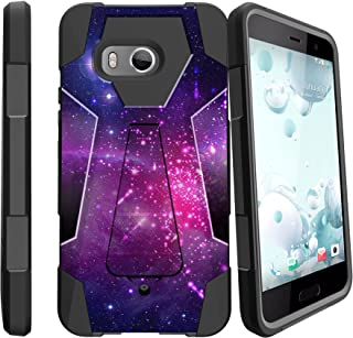MINITURTLE Case Compatible with HTC U11/HTC Ocean Dual Layer Protective Non Slip Shockproof Cover with Push-in Stand by MINITURTLE HTCU11-AHV2-79