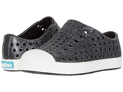 Native Kids Shoes Jefferson Bling Glitter (Toddler/Little Kid) (Jiffy Bling/Shell White) Girls Shoes