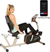 Exerpeutic GOLD 975XBT Bluetooth Smart Technology Recumbent Exercise Bike with 21 Workout Programs