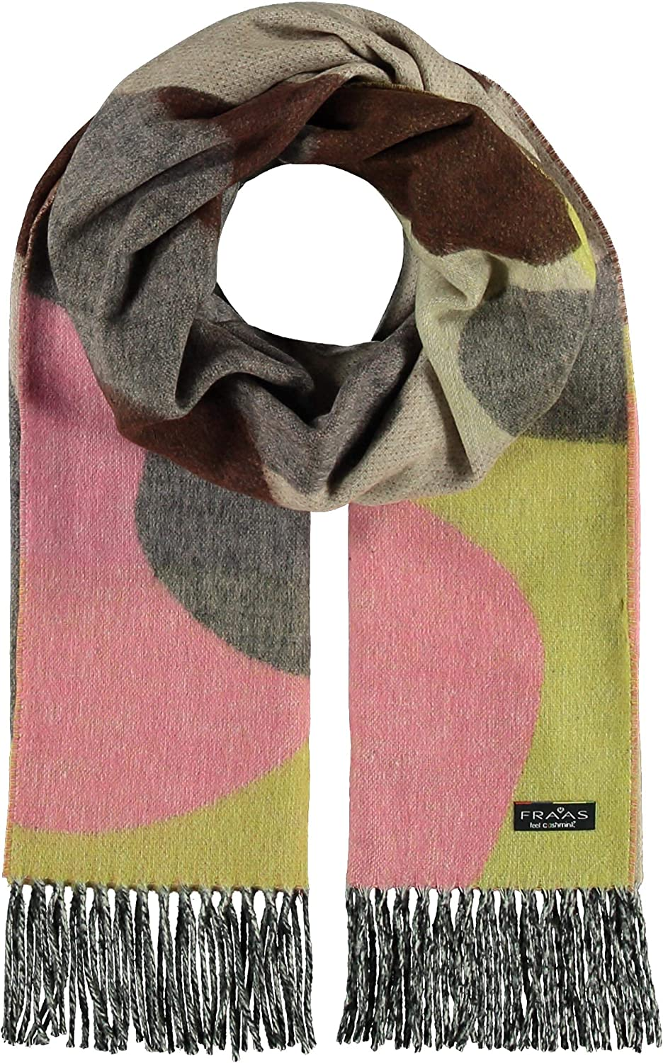 FRAAS Sustainable Edition Camo Cashmink Scarf for Men Women - Made in Germany Taupe