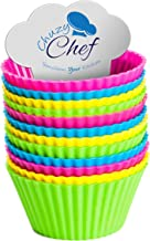 Reusable Silicone Cupcake Baking Cups - Assorted Colors Silicone Bakeware Mini Cupcake Mold Holders Liners Baking Supplies...