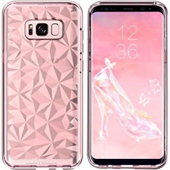 BENTOBEN Case for Galaxy S8 Plus, Slim Soft TPU Protective Clear Case Cover for Samsung Galaxy S8 Plus, Pink