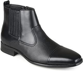 Vance Co. Mens Faux Leather Cap Toe Dress Boots