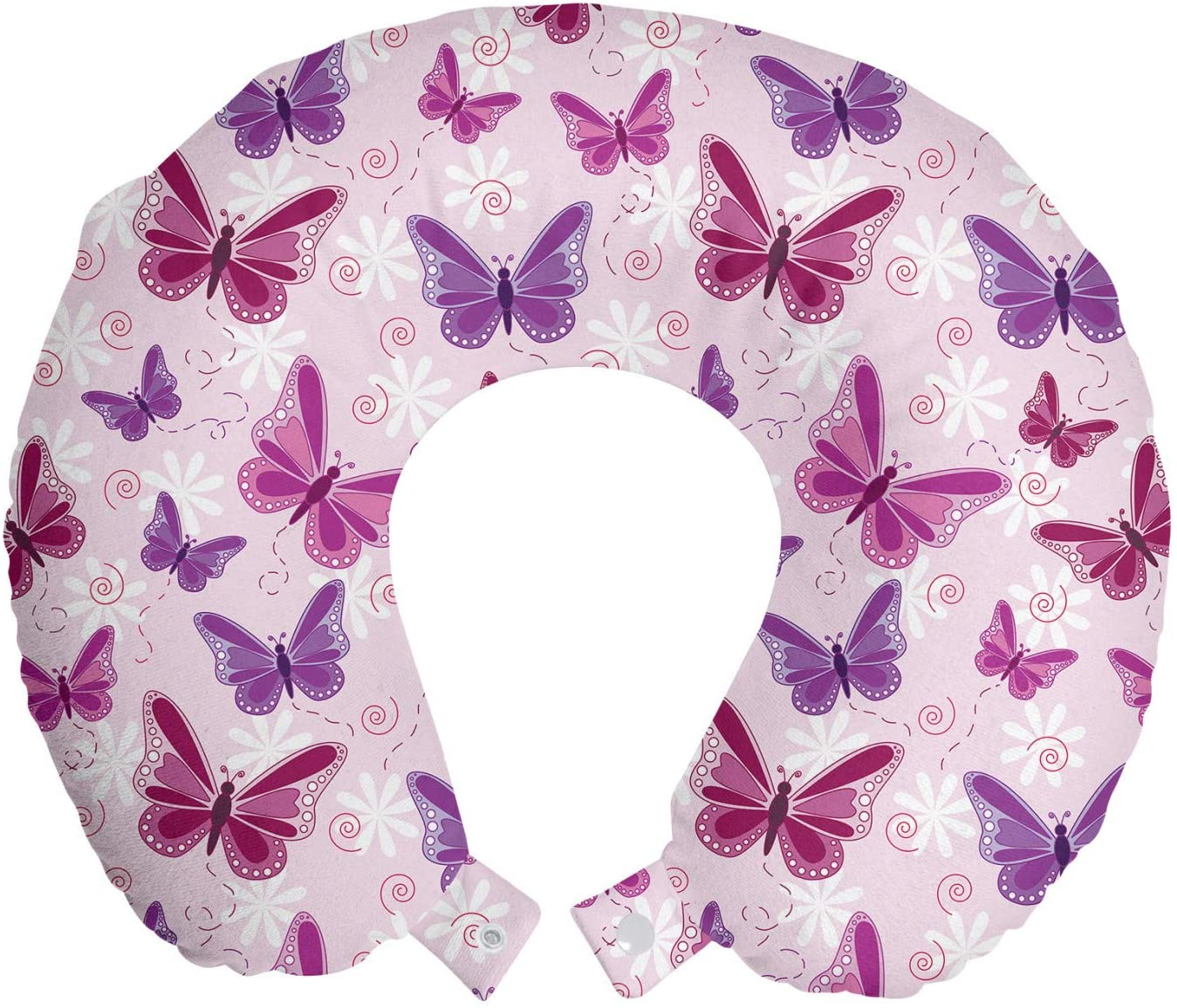 Ambesonne Butterfly Travel Pillow Neck Butt OFFicial shop Various Flying supreme Rest