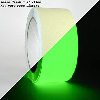 WOD NST-20GL Anti Slip Glow in the Dark Tape Luminous Safety Track 60 Grit Non Skid Weather Proof Indoor & Outdoor Traction Tape No Slip (Available in Multiple Sizes): 2 in. x 60 ft.