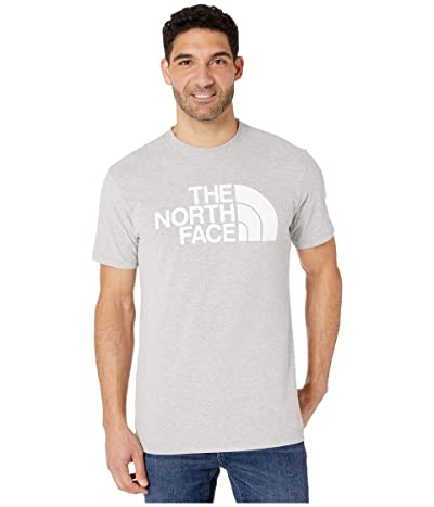 The North Face Short Sleeve Half Dome T-Shirt (TNF Light Grey Heather/TNF White) Men