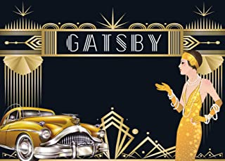 DANIU 7x5ft The Great Gatsby Backdrop for Adult Celebration Retro Roaring 20's 20s Party Art Decor Wedding Decoratio Background Supplies Photo Booth Prop