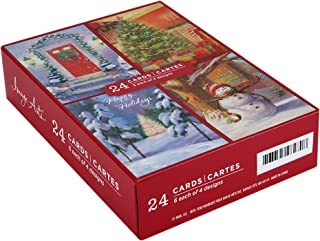 Image Arts Boxed Christmas Cards Assortment, Home for The Holidays (4 Designs, 24 Cards with Envelopes)