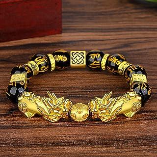 siboya imitation gold obsidian six-character mantra obsidian prayer beads bracelet