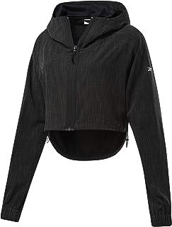 Reebok Women's Ts Woven Crop Jacket, Black