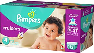 Pampers Cruisers, Unisex, Talla 4, 112 Pañales