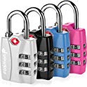 4-Pack Fosmon TSA Approved Luggage Locks