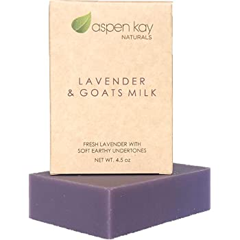 Lavender Goats Milk Soap Bar. Natural and Organic Soap. With Organic Skin Loving Oil. This Soap Makes a Wonderful and Gentle Face Soap or All Over Body Soap. 4oz Bar. 1 Pack