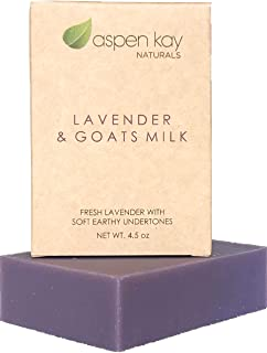 Lavender Goats Milk Soap Bar. Natural and Organic Soap. With Organic Skin Loving Oil. This Soap Makes a Wonderful and Gent...