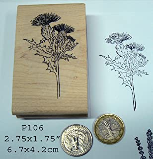 P106 Thistle Flower Rubber Stamp