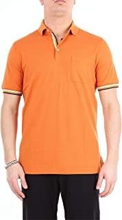 HERITAGE Luxury Fashion Mens 0811PZEARANCIONE Orange Polo Shirt | Season Outlet