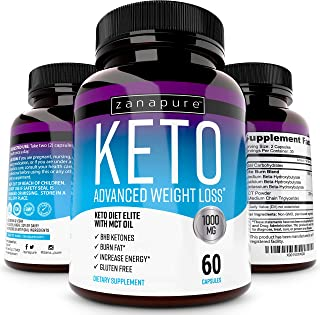 Keto Diet Elite - 1000mg Keto Advanced Weight Loss- Ketogenic Fat Burner- Burn Fat Instead of Carbs - Ketosis Supplement -...