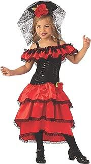 Rubies Spanish Dancer Girls Child Flamenco Costume