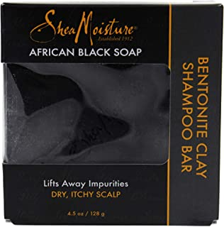 Shea Moisture African Black Bentonite Clay Shampoo Soap, 133.0 ml Pack of 1
