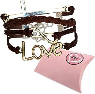 Infinity Charm Bracelet. Love and Cross Bracelet, Christian Religion Bracelet. Christian Gift for Women and Girls. Children and Adult Sizing. Gift Boxed