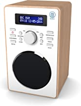 Majority Barton II Retro DAB/DAB+ Digital FM Upright Radio/Alarm Clock/Wood Effect Finish/Mains Powered (Oak)