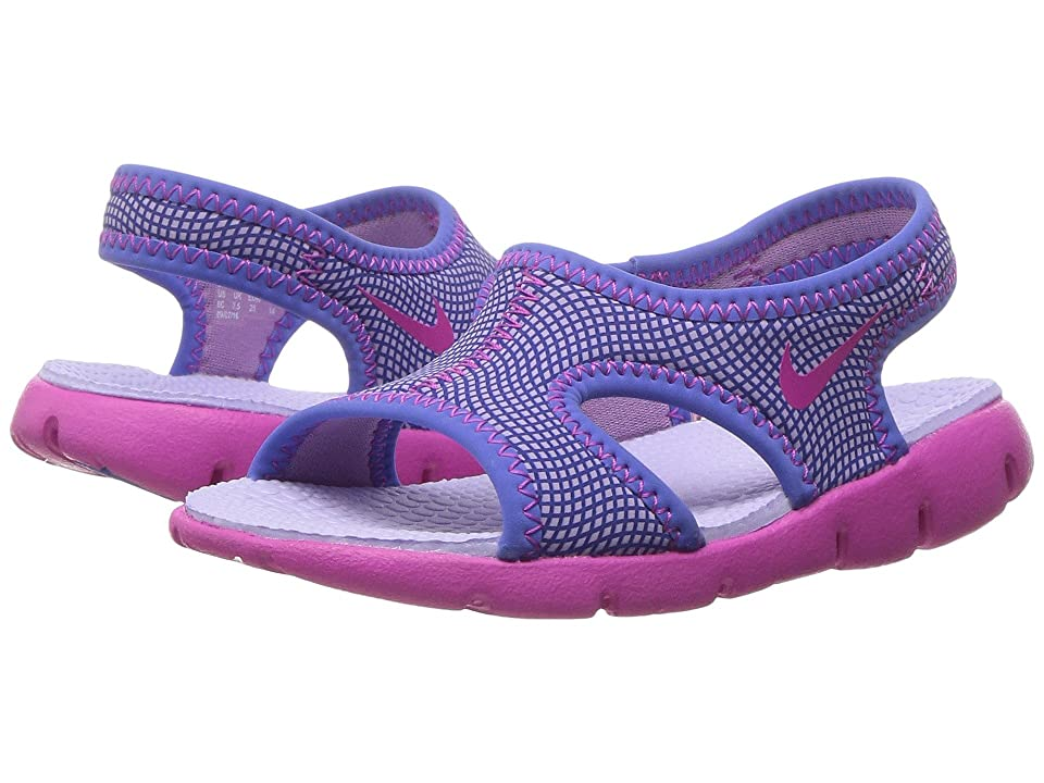 Nike Kids Sunray 9 (Infant/Toddler) (Hydrangeas/Fire Pink/Comet Blue) Girls Shoes