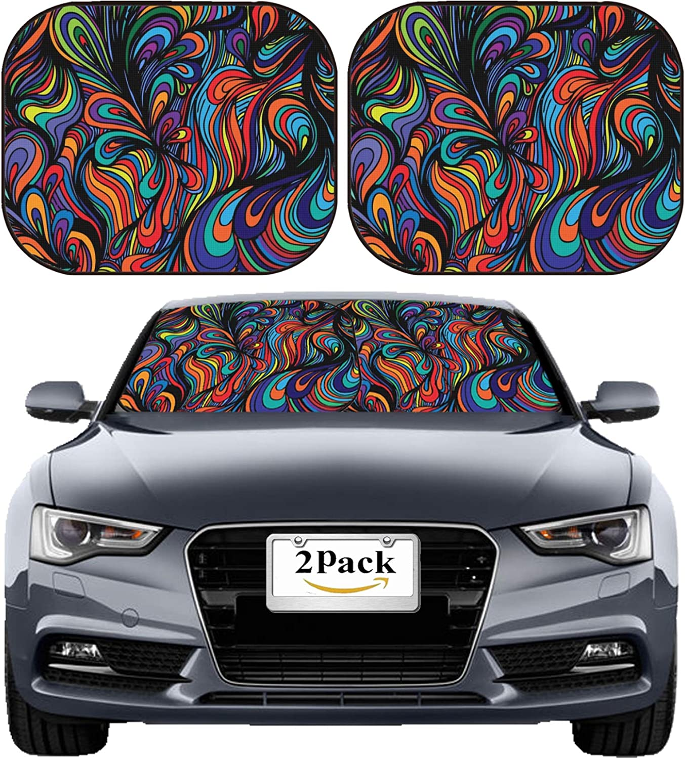 MSD NEW before selling ☆ Car Sun Shade Windshield Sunshade Bloc Pack Fit Universal 2 All items in the store