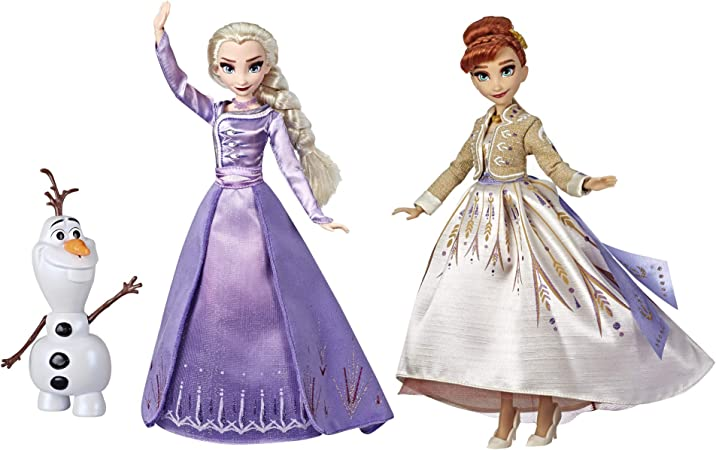 Disney Frozen Elsa, Anna, & Olaf Deluxe Fashion Doll Set with Premium Dresses, shoes and Accessories Inspired by Disney's Frozen 2 (Amazon Exclusive)