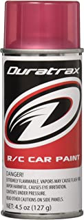 Duratrax Polycarbonate Radio Control Vehicle Body Spray Paint, 4.5 Ounces, Candy Red Translucent