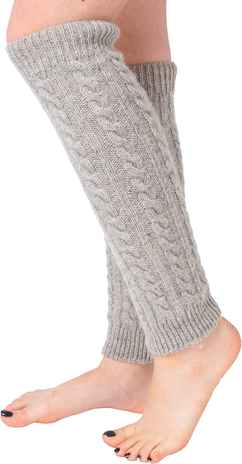Leg Warmers for Women Thigh High Socks Knitted Stockings Warm and Long Footless Cable Knit Crochet Wool Warmers