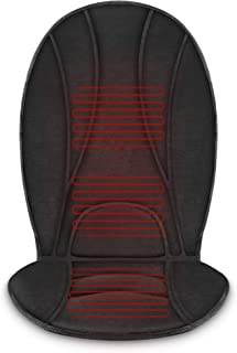 COMFIER Heated Car Seat Cushion - 3 Fast Heating Pads with Auto Shut Off, Adjustable 2 Heat Levels, Car seat Warmer, Seat Heater,Seat w12V Universal Fit Heating Car Seat Cover