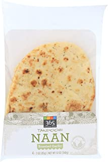 365 Everyday Value, Tandoori Naan, Roasted Garlic, 4 ct