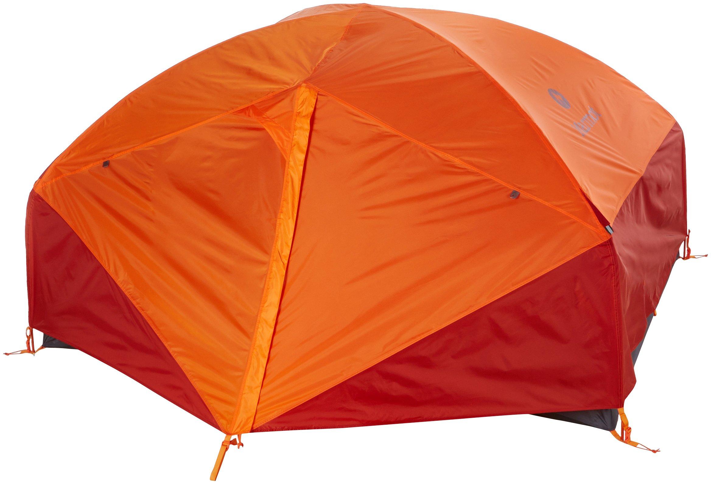 Totalmente Impermeable Trekking peque/ña Tienda de campa/ña Adultos Unisex Cinder//Rusted Orange Marmot Limelight 3P Ultraligera para 3 Personas