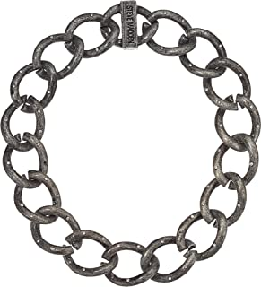 Womens Large Curb Chain Magnetic Closure Collar Necklace