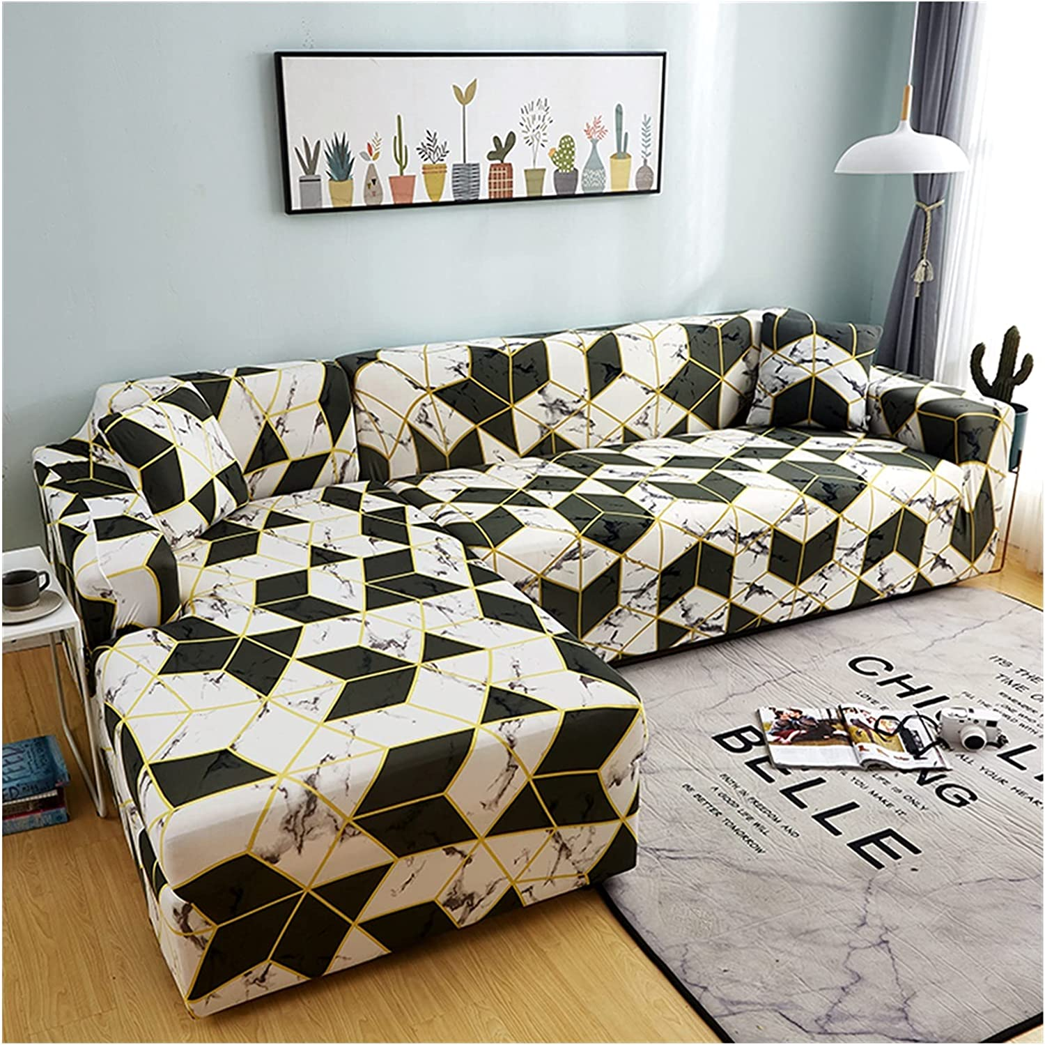 ZHBO Our shop most popular Sofa Cover Elastic Sectional Slipcover Couch Superior Corner L-Shape