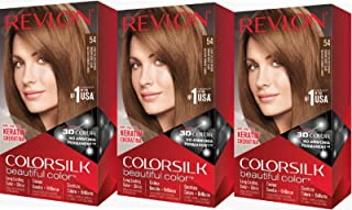 Revlon Colorsilk Beautiful Color, Light Golden Brown, 3 Count