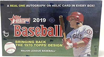 2019 Topps Heritage Baseball Hobby Box (24 Packs/9 Cards: 1 Autograph or Relic)