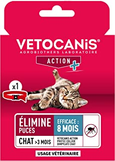 Vetocanis - Collar antipulgas y antigarrapatas de Dimpilato para Gatos