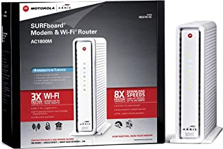 ARRIS SURFboard AC1750 DOCSIS 3.0 Cable Modem Router (SBG6782) Certified with Comcast Xfinity, Time Warner Cable, Charter, Cox, Cablevision, and more (Retail Packaging White)