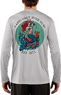 SAND.SALT.SURF.SUN. Redhead Mermaid Men's UPF 50+ Long Sleeve T-Shirt