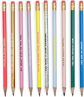 ban.do Women's Write On Graphite Pencil Set of 10, Compliments