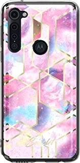Scarlet Pink Stardust Moto G Stylus Case with Slim Sleek Stylish Protective Design and Shiny Gold Accents Durable Phone Co...