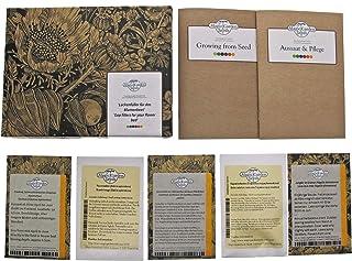 Relleno para el jardín de flores - Set de regalo-Semillas con 5 diferentes y coloridas plantas de floración, que son desde...