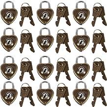 DOITOOL 12 stks Hartvorm Hangslot met Sleutels Mini Hangslot Metalen Slot voor Bagage Dagboek Boek Sieraden Doos Koffer Ko...